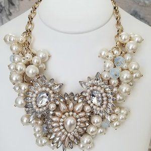 Chunky Pearl and Stone Necklace